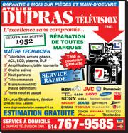 TV Repair West-Island DLP Lamp Dupras Television Service Center