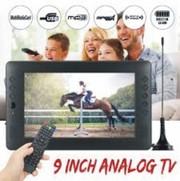 12V 9 inch HD Portable Mini WiFi Digital and Analog TV